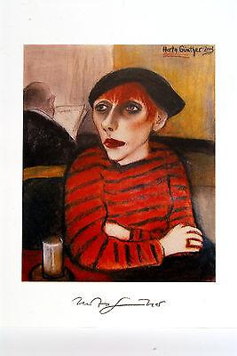 Herta Günther Kunstdruck - Dame mit Kappe - 50 x 70 NEU