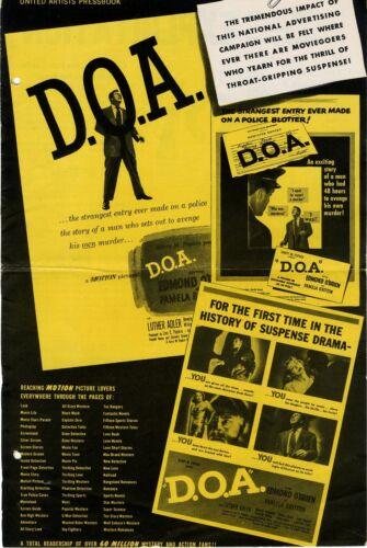 D.O.A. (1950) Vntg orig pressbook Edmund O