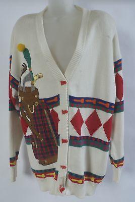 golf motif 1980 sweater