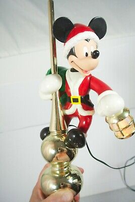 Vintage Mr Christmas Animated Mickey Mouse Lighted Lantern Tree Topper FREE SHIP