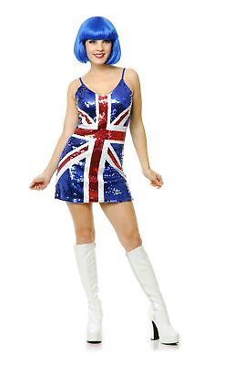 British Flag Costume (British Flag Sequin Dress Costume)