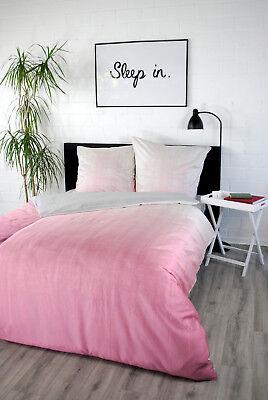 Digitaldruck Satin-Bettwäsche Washed-out Pink Satinbettwäsche 135x200 Bettwaren