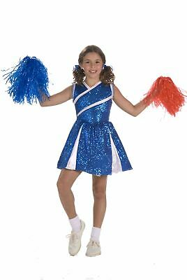 blue Sassy Cheerleader kids girls Halloween costume - Kids Cheerleader Halloween Costume