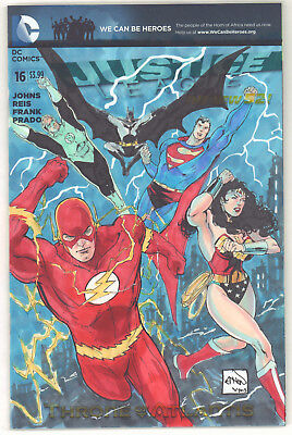 Justice League #16 Variant Color Commission art by Ethan Van Sciver 2013 Signed
