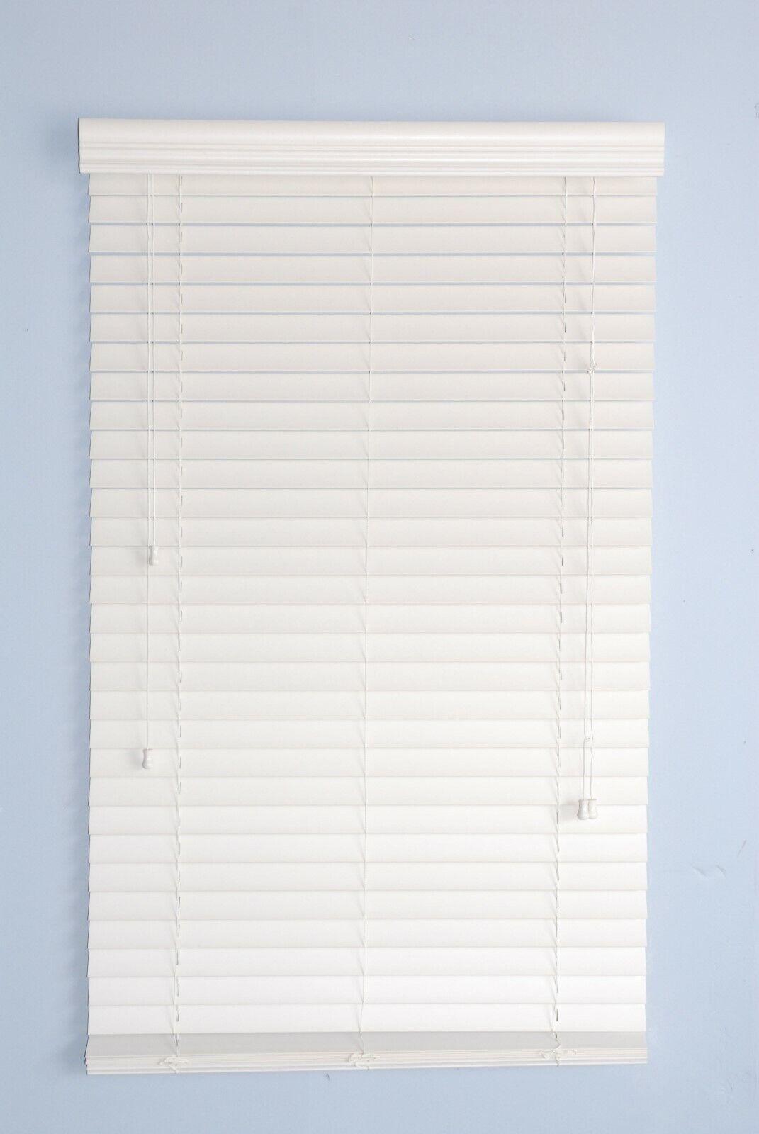 "2"" Faux Wood window  Blinds 43W x 64L Alabaster Plantation s"