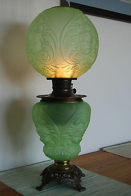 ANTIQUE OLD OIL KEROSENE BABY FACE  ANGEL VICTORIAN  BANQUET GWTW VINTAGE LAMP