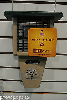 BIRDS CHOICE SUET FEEDER / SINGLE CAKE / RECYCLED POLY-LUMBER / GREEN ROOF /SNTP