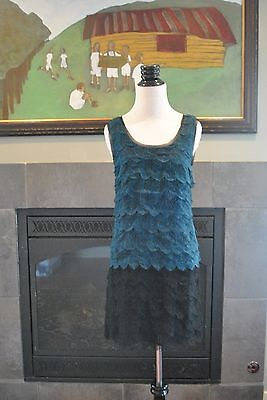 NWT Madewell Lace Feather Shiftdress Flapper Gatsby Peacock Black Sz 2 XS $198