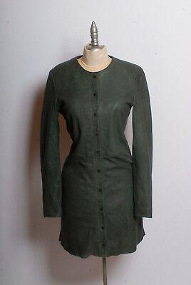 Goosecraft dress021 Amsterdam-based luxury fashion 100% sheep leather vest/dress