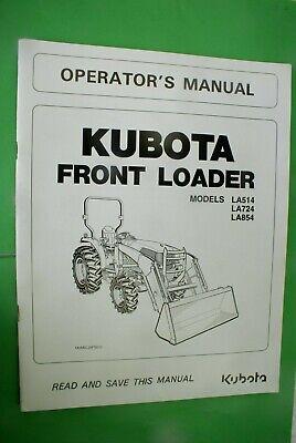 Kubota La463 Front Loader Operators Manual