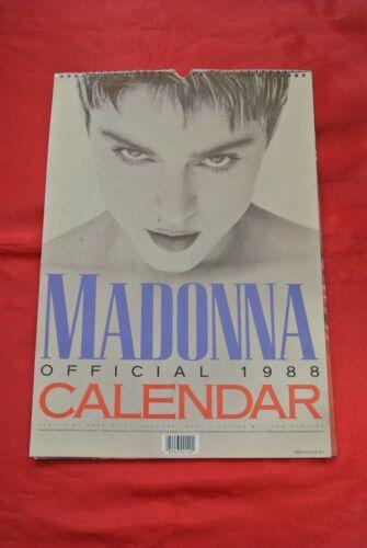 "Rare Madonna Vintage 1988 Official 17"" X 12"" Calendar MUST SEE!!!"