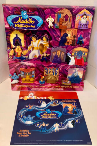 New McDon. Aladdin King Of Thieves Happy Meal Toy Store Display & Tranllte 1995