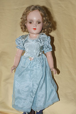 "Vintage 14"" Arranbee Unmarked Debu'teen Composition Doll Brown Tin Eyes"