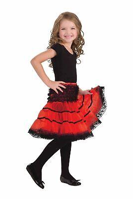 Childs Crinoline Slip. Red and Black](Red And Black Burlesque Costume)
