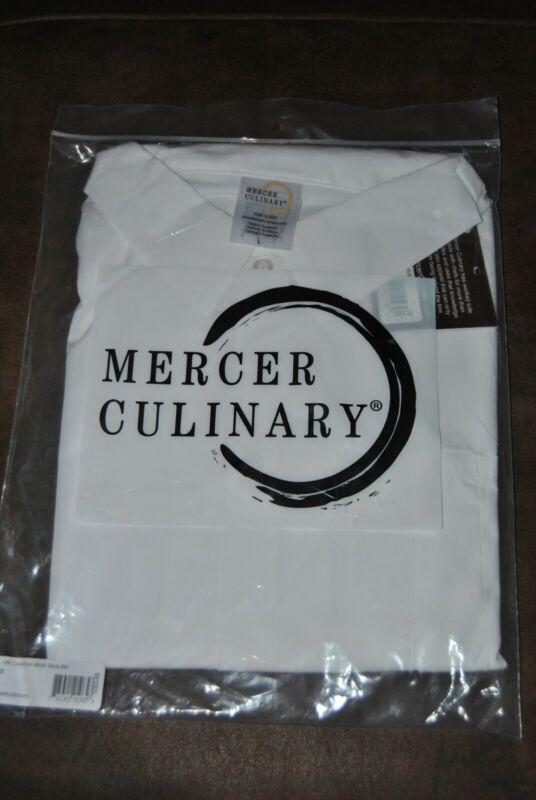 MERCER CULINARY MILLENNIA AIR -NEW UNISEX COOK SHIRT WITE - LARGE