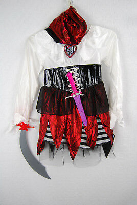 Girl Pirate Accessories (Girl's Pirate Lass Disguise Halloween Costume with Accessories Size Medium)