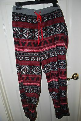 NEW WOMEN'S DISNEY LUXE MICKEY MOUSE PAJAMA PJ FLEECE PANTS FAIR ISLE SIZE 2X - Disney Luxe Pajamas
