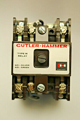 Cutler-hammer D26mb Type M Relay 24volt D.c. Coil 4-pole Comes With 3-contacts