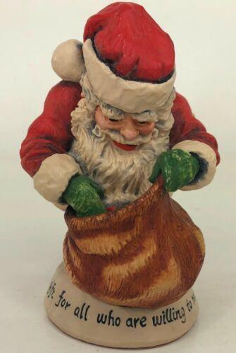 1990 Simpich Number 3 Santa Gifts In Bag Figure Figurine