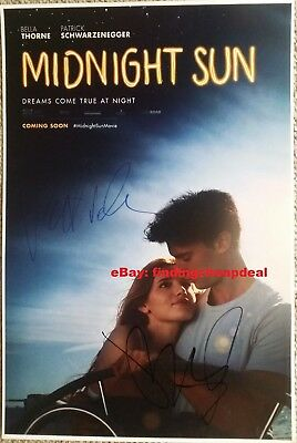 "MIDNIGHT SUN MOVIE SIGNED POSTER 18"" REPRINT PATRICK SCHWARZENEGGER+BELLA THORNE"