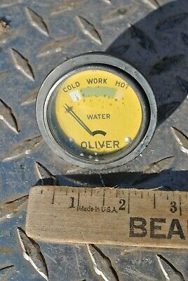 Original Vintage Oliver Tractor Co Water Temp Gauge