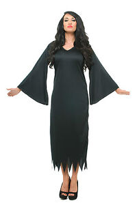 MORTICIA-ADAMS-FAMILY-STYLE-LONG-BLACK-HALLOWEEN-FANCY-DRESS-COSTUME