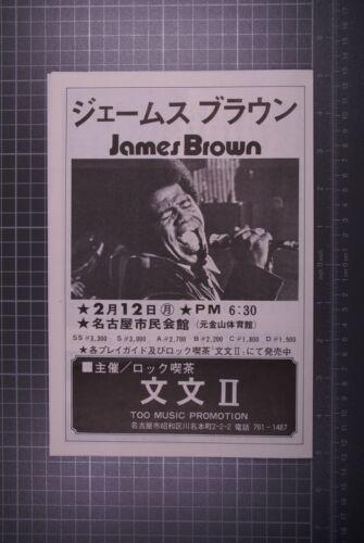 James Brown Flyer Vintage Japan Tour 1974