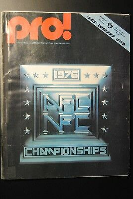 1976 Oakland Raiders vs Pittsburgh Steelers Playoff Football Program-Ken Stabler