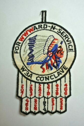 OA Section W3A Conclave 1974 Pocket Patch - Order of The Arrow - Boy Scouts