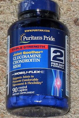 Puritans Pride Triple Strength Glucosamine  Chondroitin   Msm Joint Soother  90
