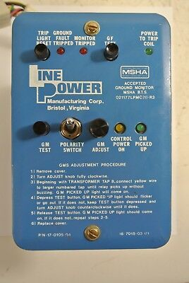 Line Power Manufacturing Ground Monitor 17-0105-04 Ground Fault Monitor Used