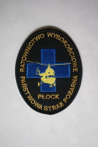 Poland Fire Brigade Helicopter Rescue Unit shoulder patch