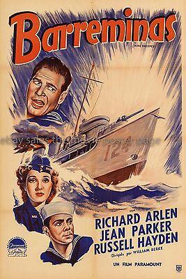 Minesweeper Richard Arlen 1943 Argentine original one-sheet Movie Poster EX