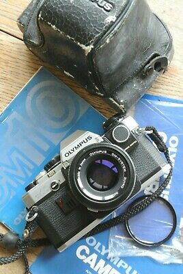 Olympus OM10 35mm SLR + Zuiko Auto-s 50mm 1:1.8 Lens Manual adapter NICE WORKS