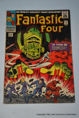 Fantastic Four 49 Marvel Comic Book 1966 VG 2nd Silver Surfer!