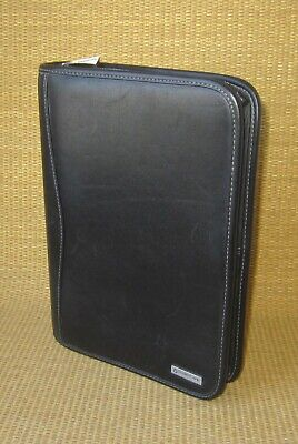 Classic Franklin Covey Black Leather 1.5 Rings Zip Plannerbinder