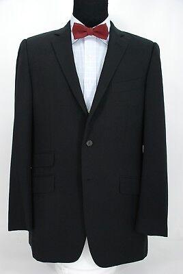 Dunhill 2Btn Black Blazer Sport Coat Jacket Hacking Ticket Pockets 41L