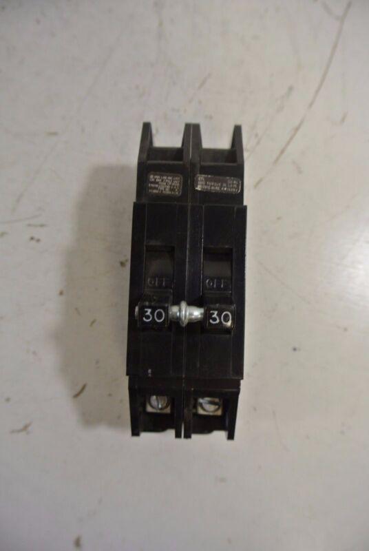 Zinsco 2 Pole 30A Circuit Breaker Cat: QC230
