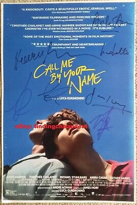 CALL ME BY YOUR NAME GAY MOVIE SIGNED POSTER 12x18 REPRINT CHALAMET+HAMMER+IVORY