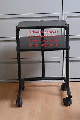 Anthro Computer Office Desk Mobile Cart Black Table Workstation Large Casters