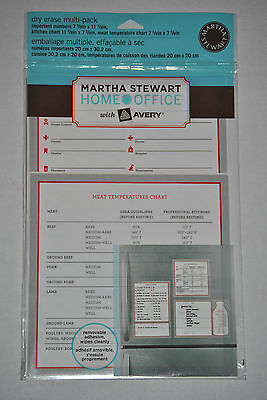 Martha Stewart Avery Important Numbers Kitchen Chart Dry Erase Multi-pack Decals