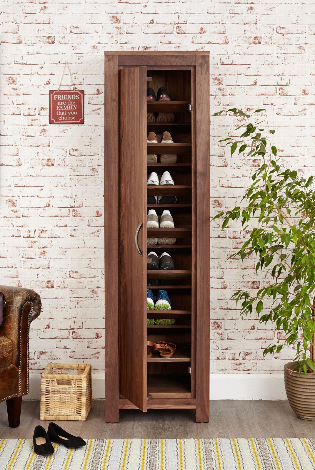 Shoe Cabinet Unit 7 Shelves Tall Narrow