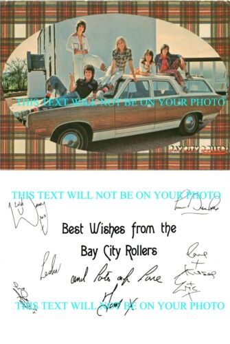 THE BAY CITY ROLLERS SIGNED AUTOGRAPH 6x9 RP PROMO PHOTO SATURDAY NIGHT S A T U