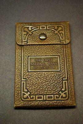 Vintage THE FIRST NATIONAL BANK OF LEWISTON Checking / Deposit Slip -
