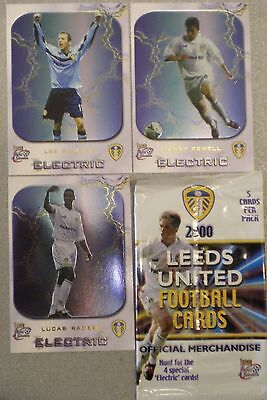 "LEEDS UNITED FOOTBALL CARDS, FANS SELECTION 2000 FUTERA ""ELECTRIC"" TRADING CARDS"