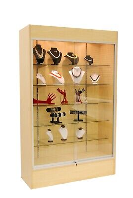 Wall Glass Display Case Showcase W Light 78 - Maple New York Pickup