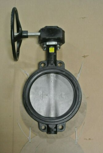 "10"" Crane Center Line 1023544355 Wafer Butterfly Valve CS x SS NEW MB (2606)"