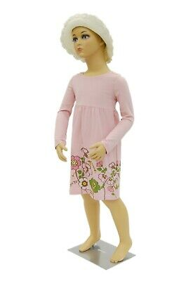 Realistic Standing 5 Year Old Plastic Unisex Child Mannequin With Turnable Arms