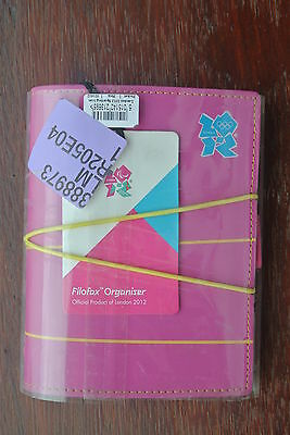 Filofax A6 Pocket Pink Leather Special Edition Official 2012 London Olympics