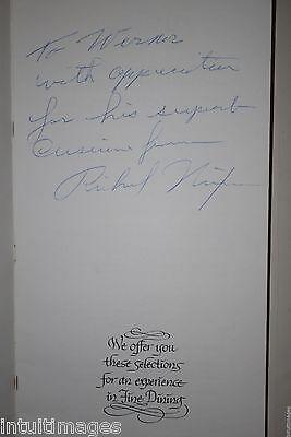 RICHARD NIXON INSCRIBED SIGNED MENU GOLDEN LION OLYMPIC WESTERN HOTEL Seattle